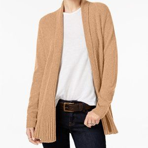 Charter Club Cashmere Ribbed Open Front Cardigan
